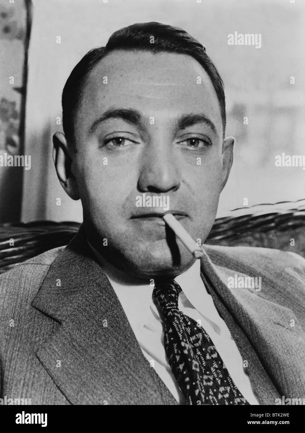 Dutch Schultz, born Arthur Flegenheimer (1902-1935), New York mobster, in 1935. - Stock Image