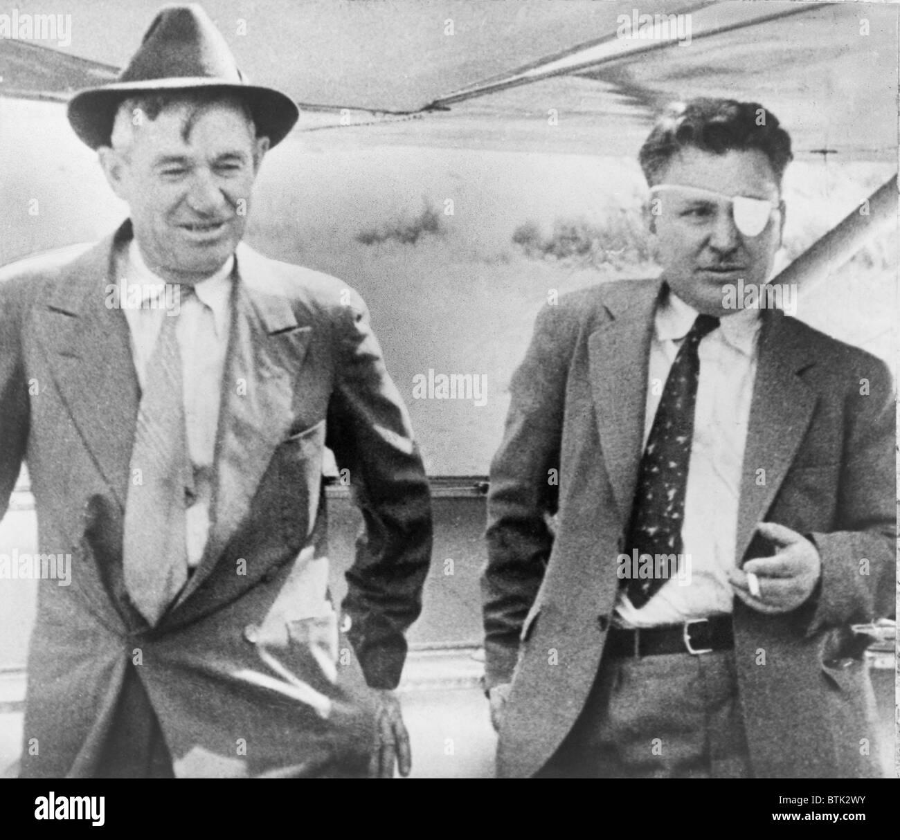 Pilot Wiley Post (1898-1935) With Actor Will Rogers (1879