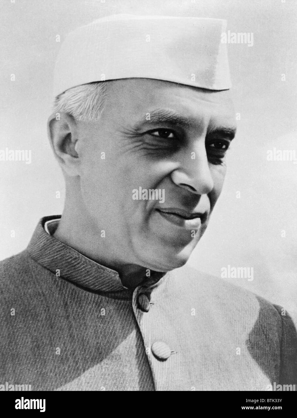 Jawaharlal Nehru (1889-1964), the first Prime Minister of India following independence from Britain in 1947. - Stock Image