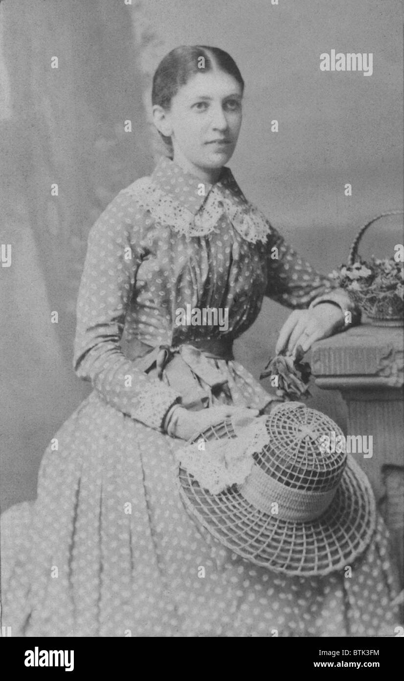 Martha Bernays (1861-1951), in 1882 four years prior to her 1886 marriage to Sigmund Freud. - Stock Image