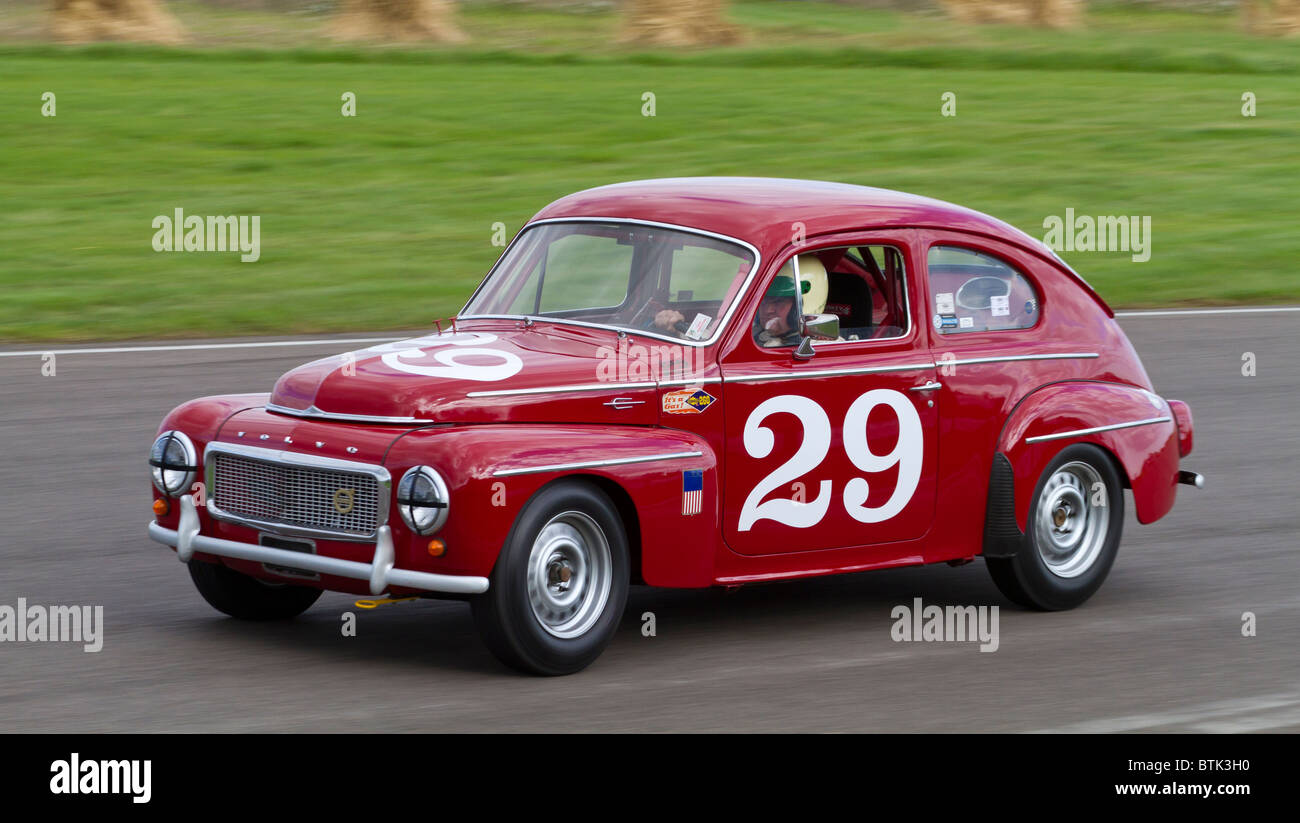 1958 Volvo PV544S with driver Shaun Rainford during the St Mary's Trophy race at the 2010 Goodwood Revival, - Stock Image