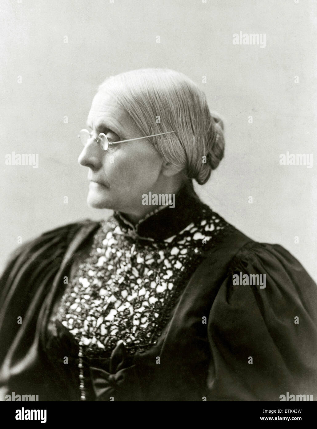 Susan B. Anthony (1820-1906), in 1890s. - Stock Image
