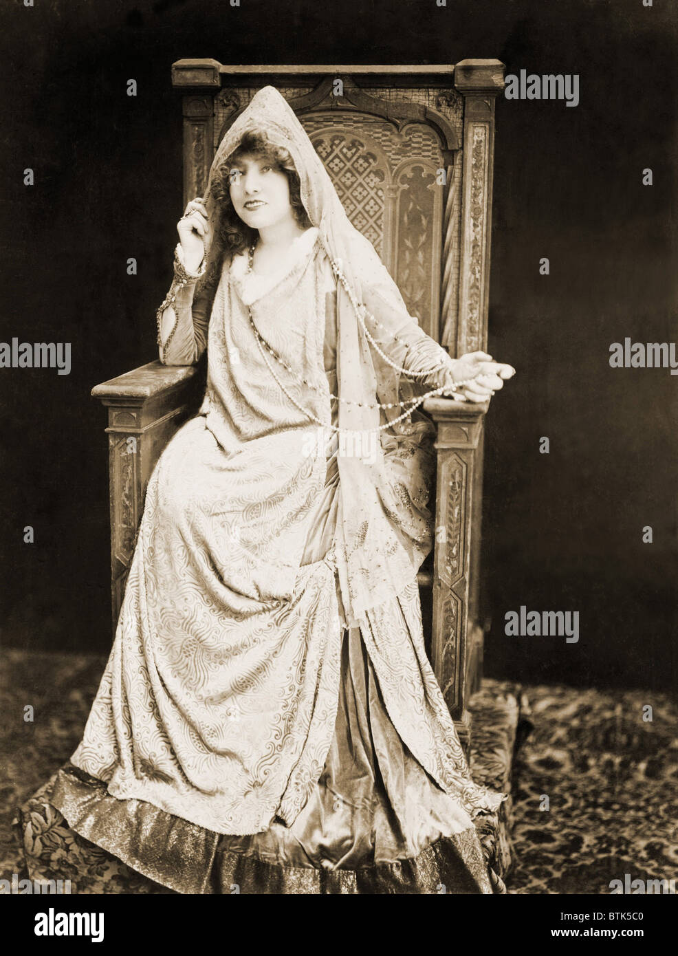 Sarah Bernhardt (1844-1923), French actress, posed in stage costume in 1917. She continued to perform until her - Stock Image