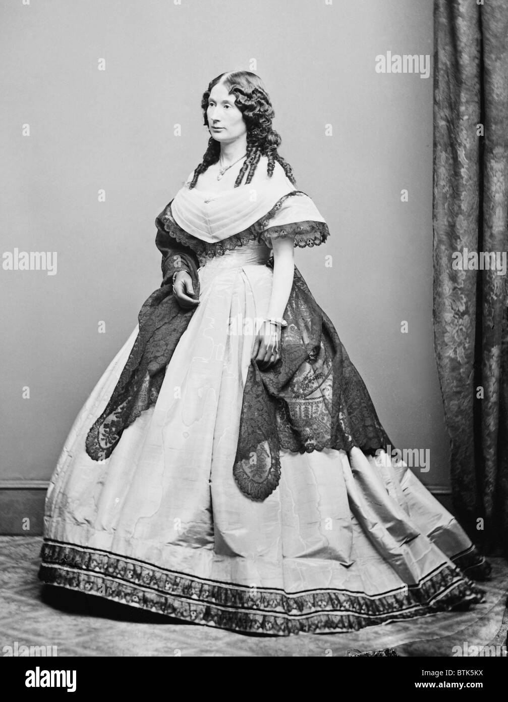Laura Keene (1820-1873), English born actress, managed the theater company that performed OUR AMERICAN COUSIN at - Stock Image