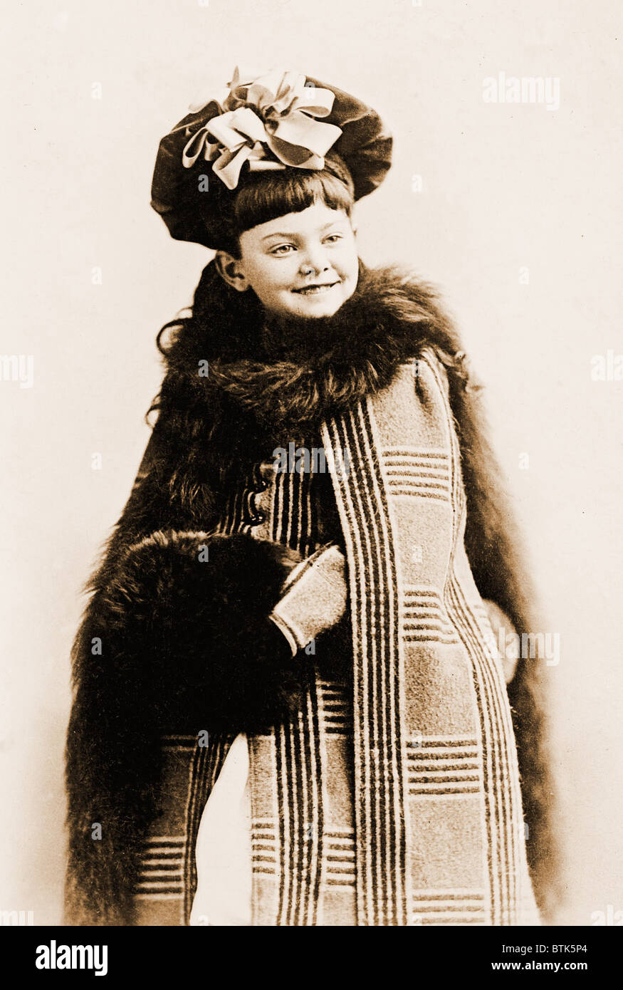 Julia Marlowe (1866-1950), English born American actress, started her professional career at age 11, in a juvenile - Stock Image