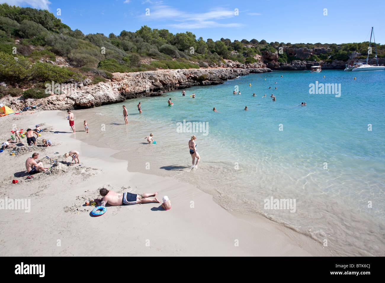 Cala Sa Nau beach. Mallorca Island. Spain - Stock Image