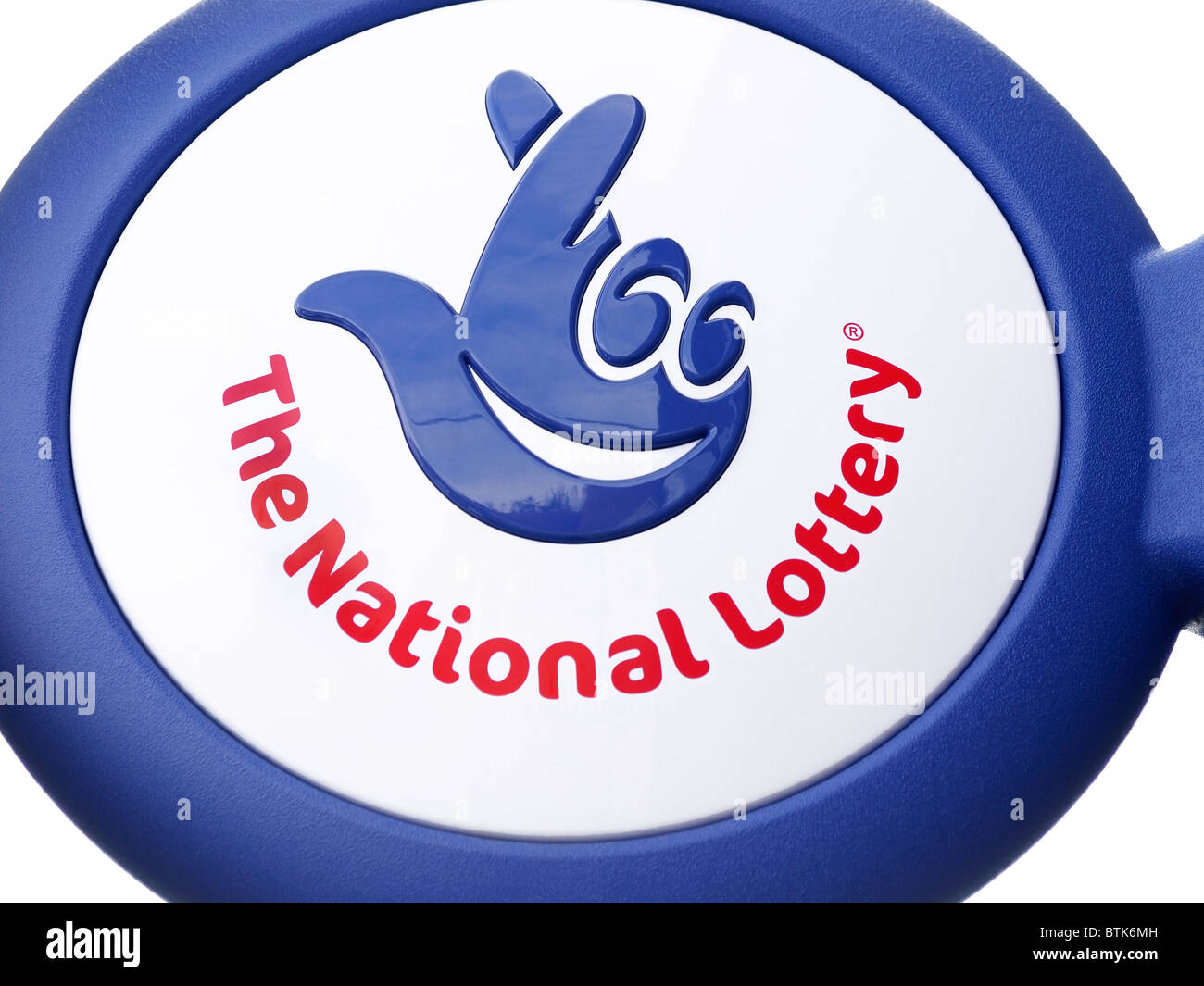 The National Lottery Sign on a Shop Exterior, UK. - Stock Image
