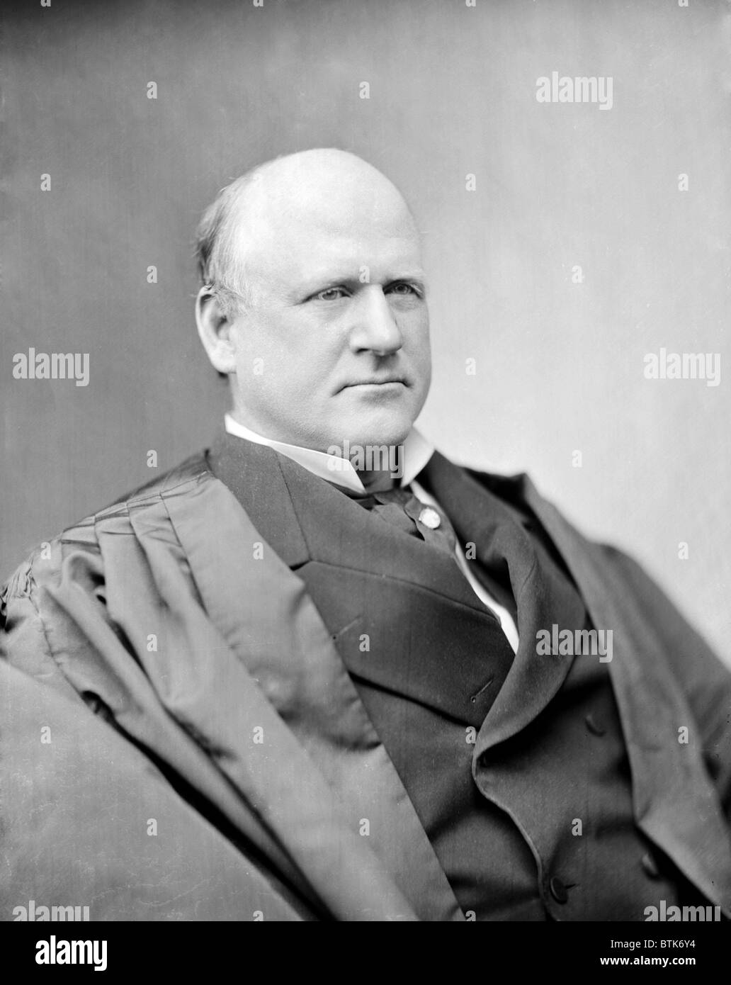 Judge John Marshall Harlan, Justice of the Supreme Court. He was the lone dissenter to the decision of Plessy v. - Stock Image
