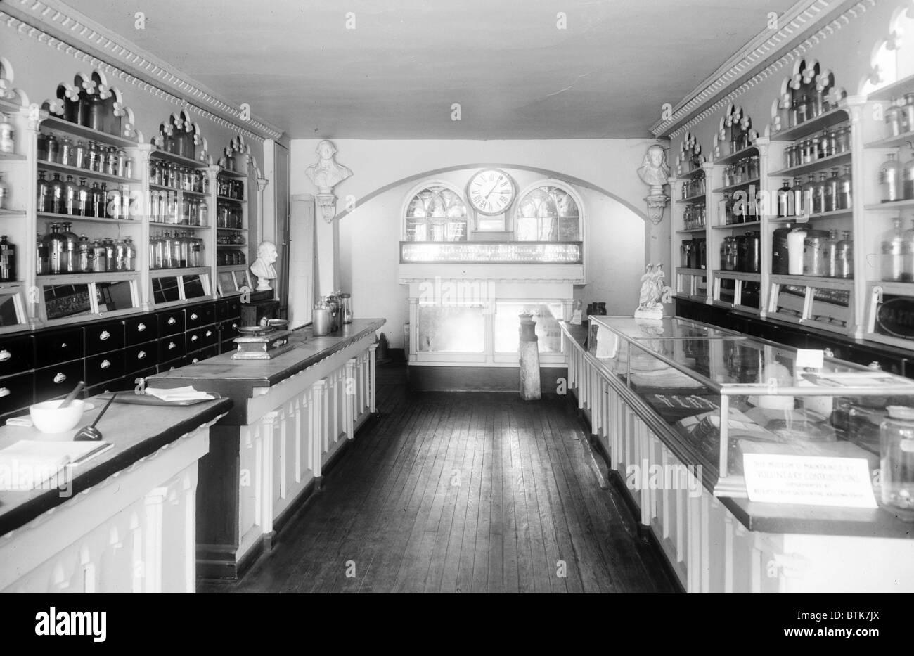 Apothecary Shop, founded ca. 1795. Alexandria, Virginia. Stock Photo