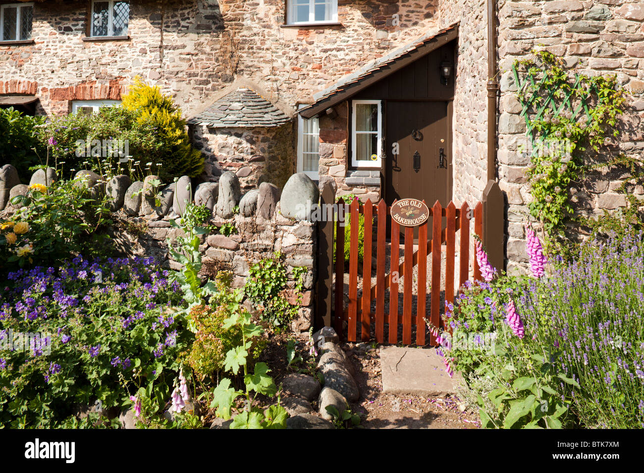The Old Bakehouse in the Exmoor village of Bossington, Somerset - Stock Image