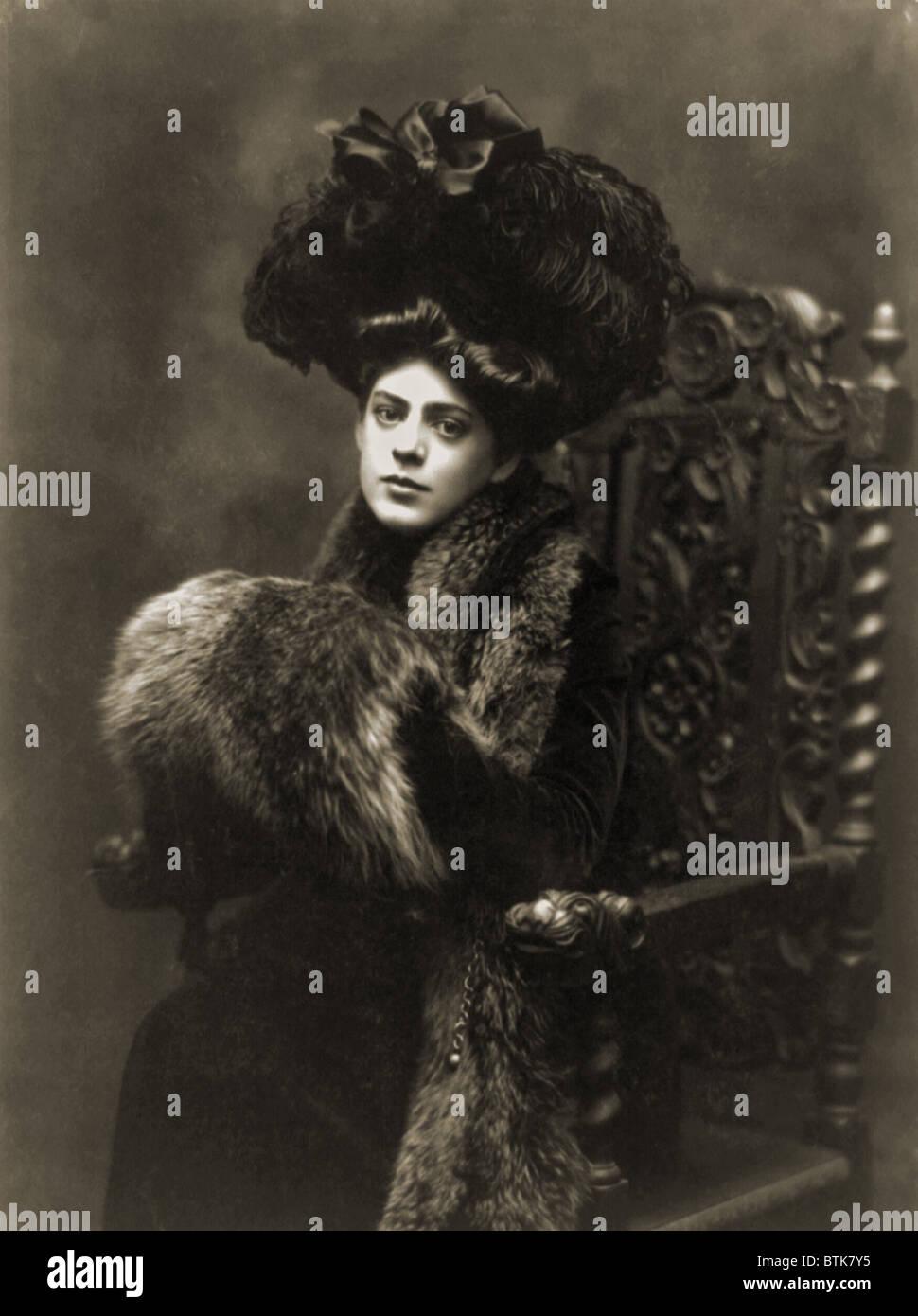 Ethel Barrymore (1879-1959), in a 1901 studio portrait by Burr McIntosh. Stock Photo