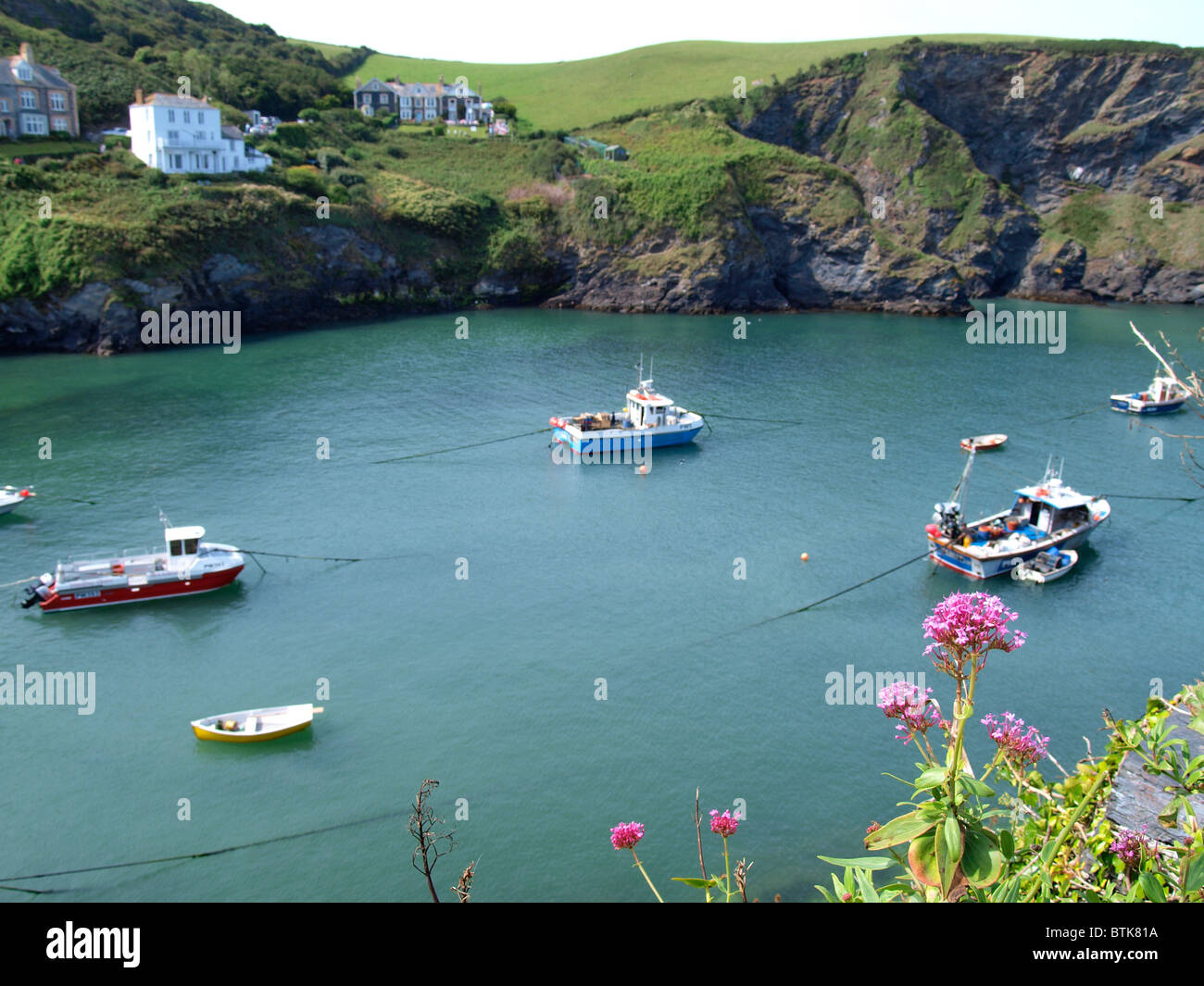 Port isaac, Cornwall, also known as Port Wenn in the tv program Doc Martin, UK - Stock Image