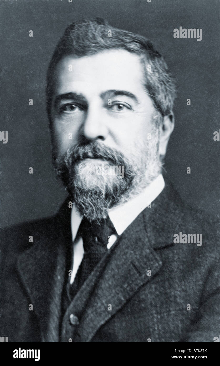 Louis Comfort Tiffany (1848-1933), achieved his greatest artistic success in his Art Nouveau glass work. He was Stock Photo