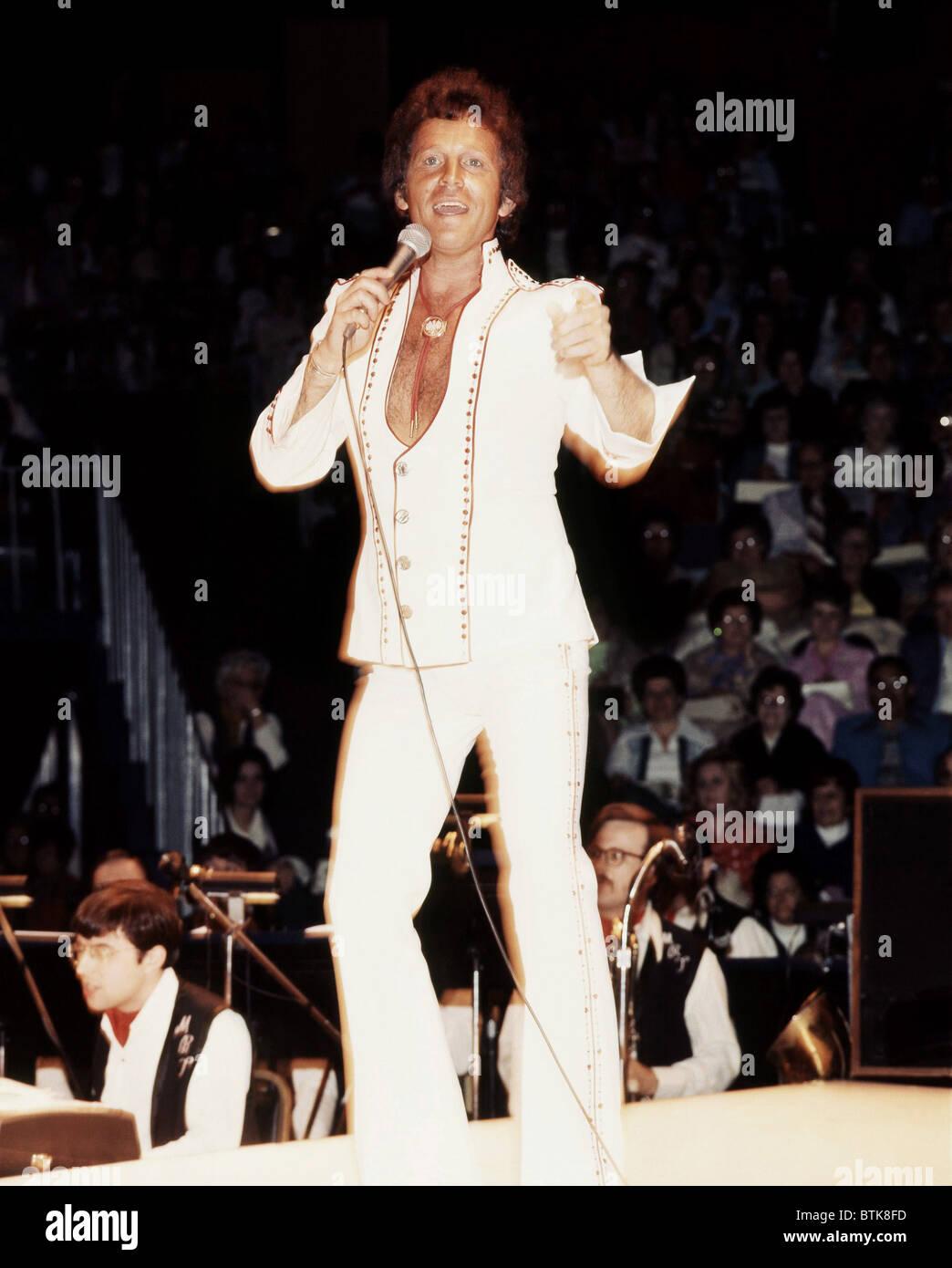 Bobby Vinton, 1975, Millrun Playhouse Theater in the Round, Niles, Illinois. - Stock Image