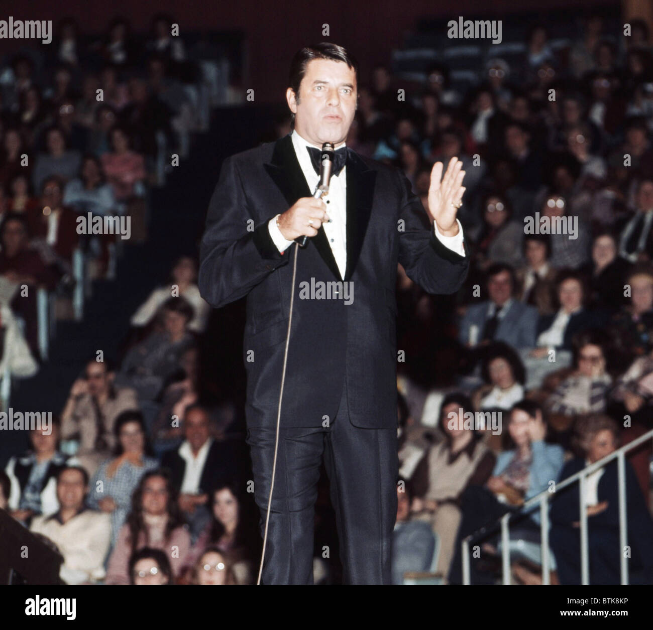 Jerry Lewis, 1975, Millrun Playhouse Theater in the Round, Niles, Illinois. - Stock Image