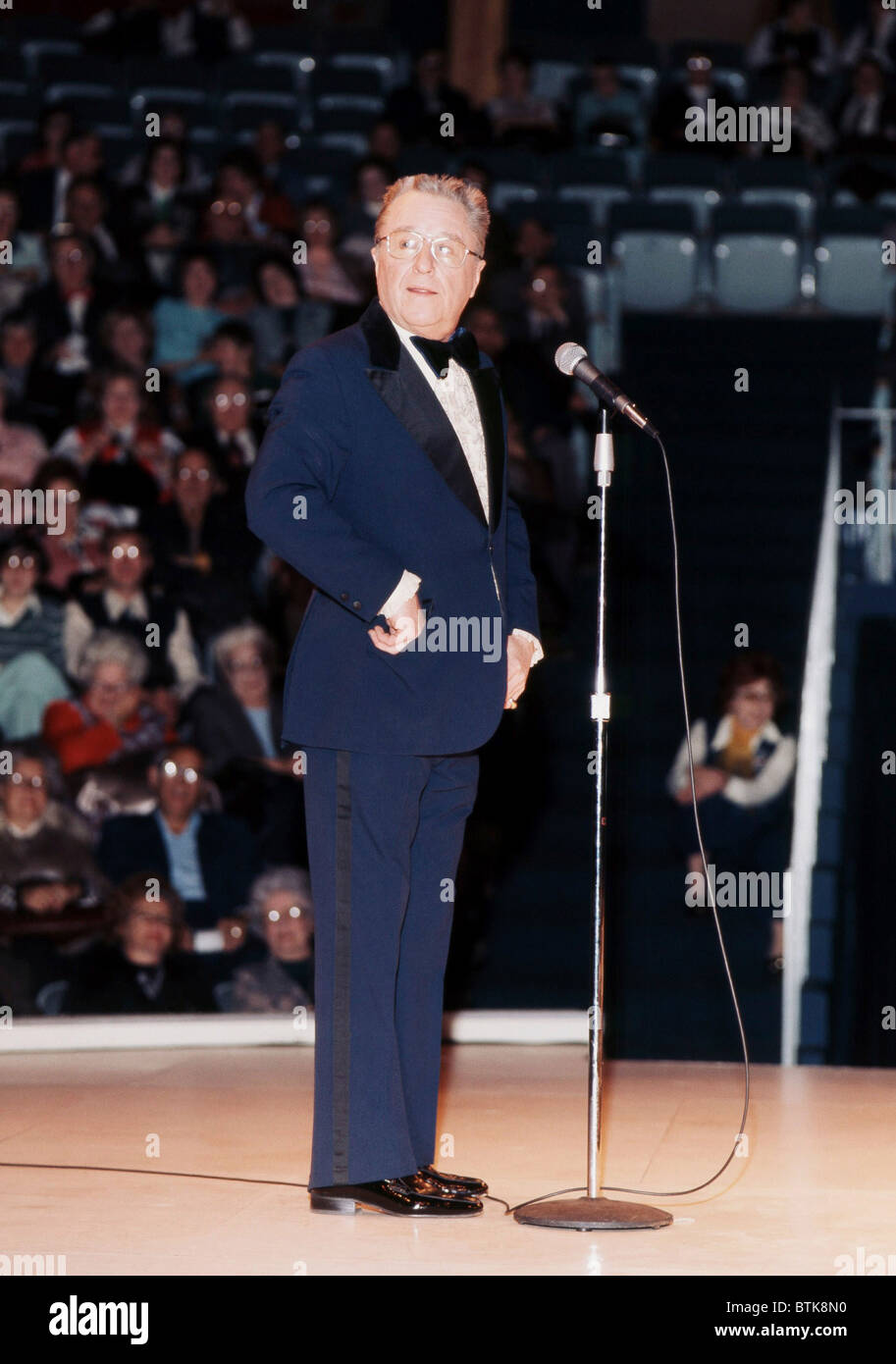 George Gobel, 1975, Millrun Playhouse Theater in the Round, Niles, Illinois. - Stock Image