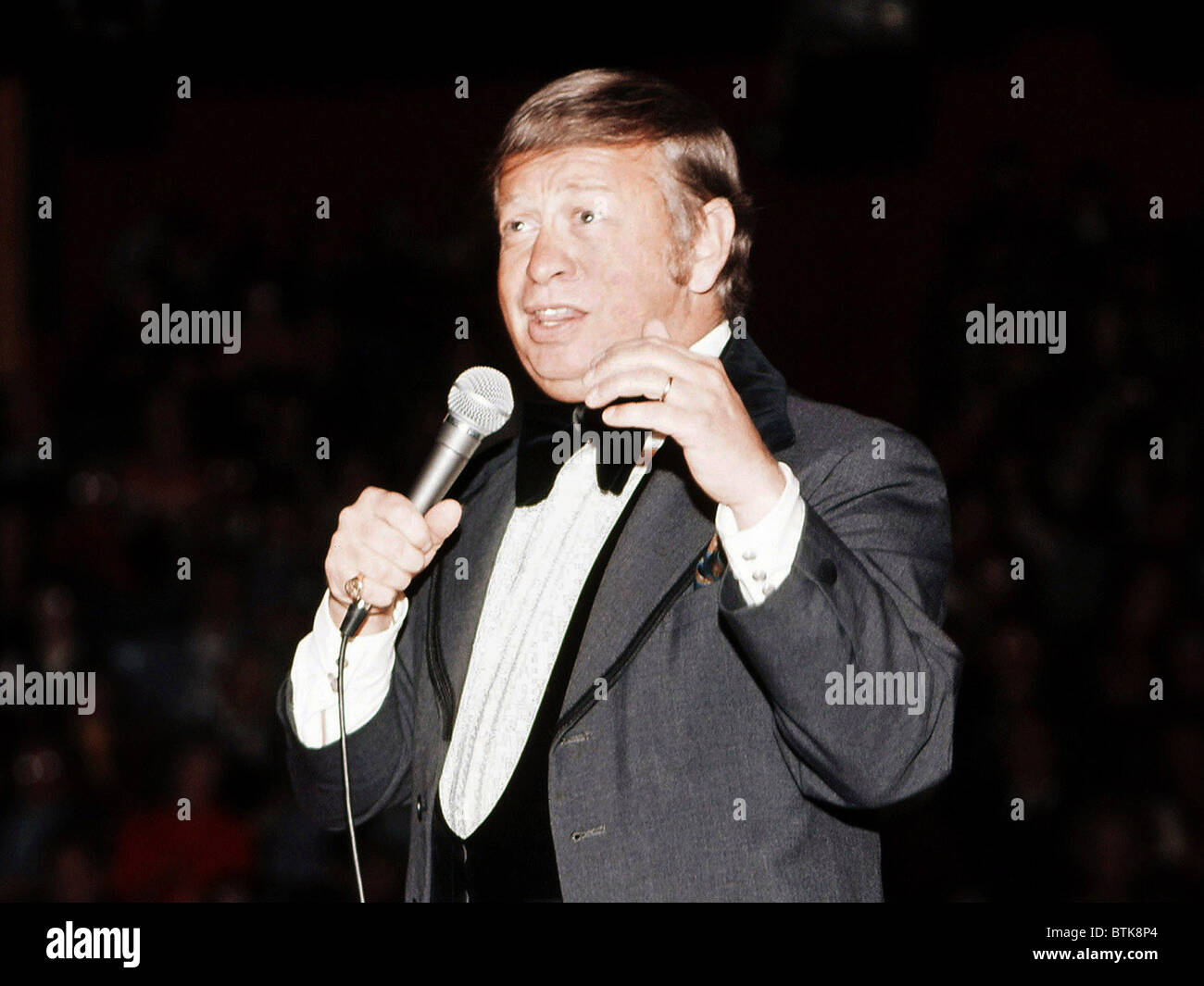 Mel Torme, 1975, Millrun Playhouse Theater in the Round, Niles, Illinois. - Stock Image