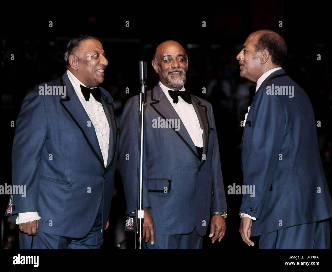 The Mills Brothers, (aka Herbert Mills, Donald Mills, Harry Mills), 1975, Millrun Playhouse Theater in the Round, - Stock Image