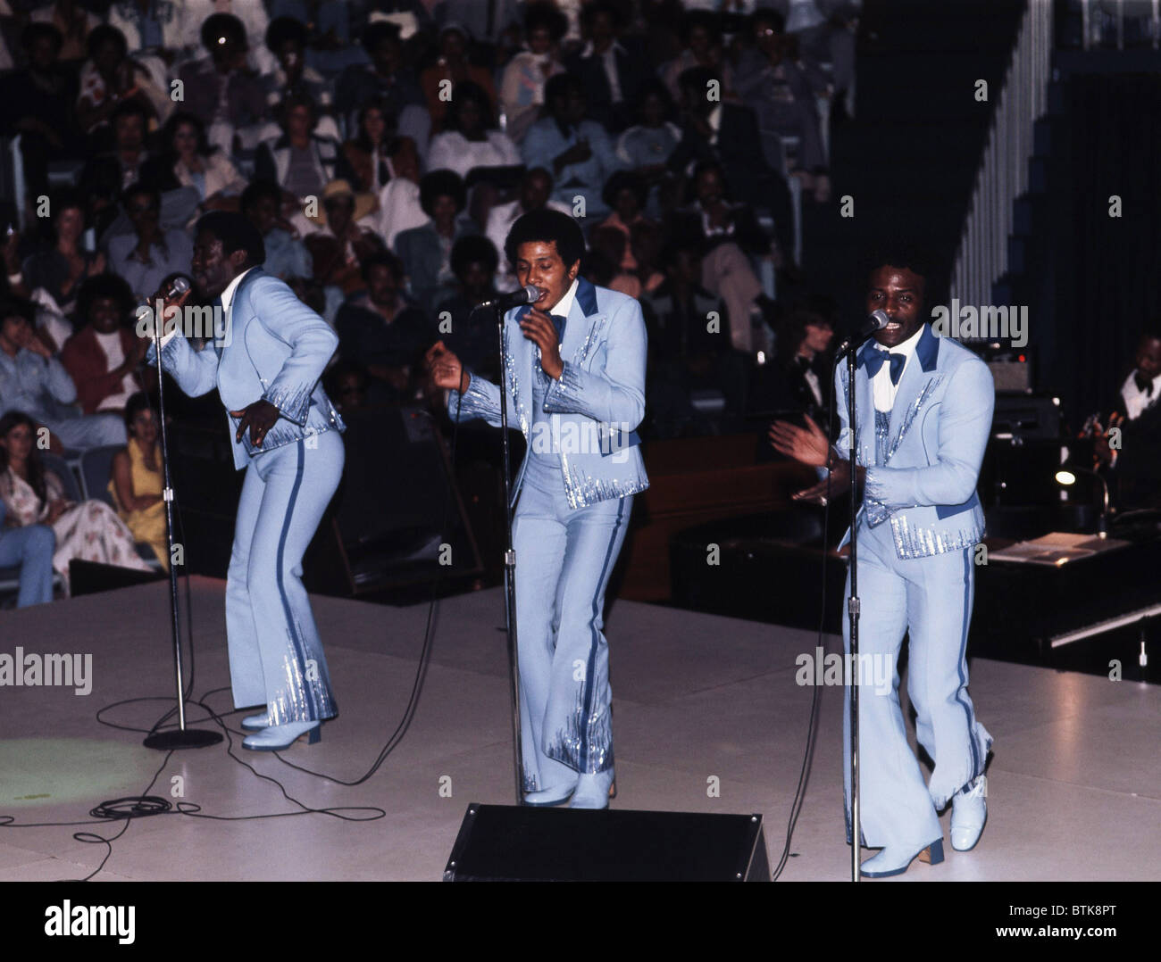 The O'Jays, 1975, Millrun Playhouse Theater in the Round, Niles, Illinois. - Stock Image