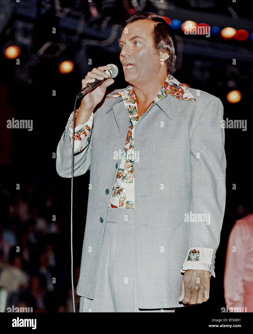 Peter Marshall, 1975, Millrun Playhouse Theater in the Round, Niles, Illinois. Stock Photo