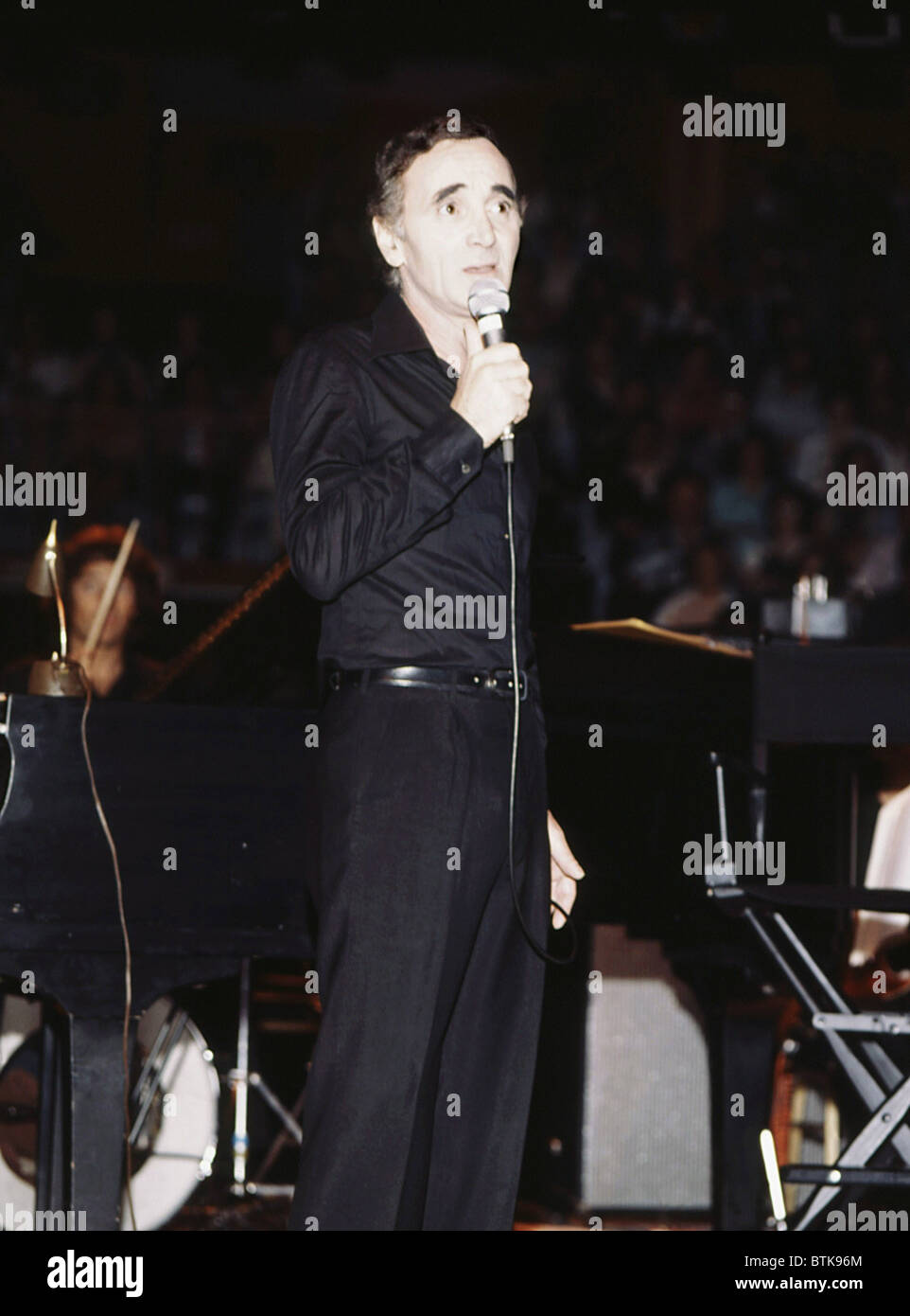 Charles Aznavour, 1979, Millrun Playhouse Theater in the Round, Niles, Illinois. - Stock Image