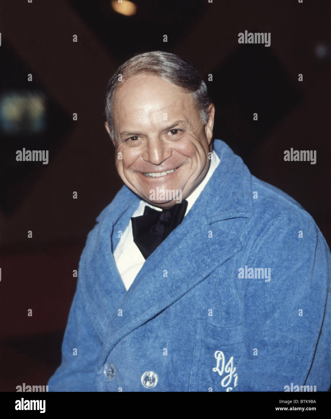 Don Rickles posing backstage, 1980, Millrun Playhouse Theater in the Round, Niles, Illinois. - Stock Image
