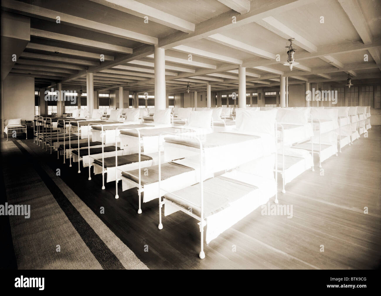 New York City S Municipal Lodging House Men S Dormitory With Rows Of