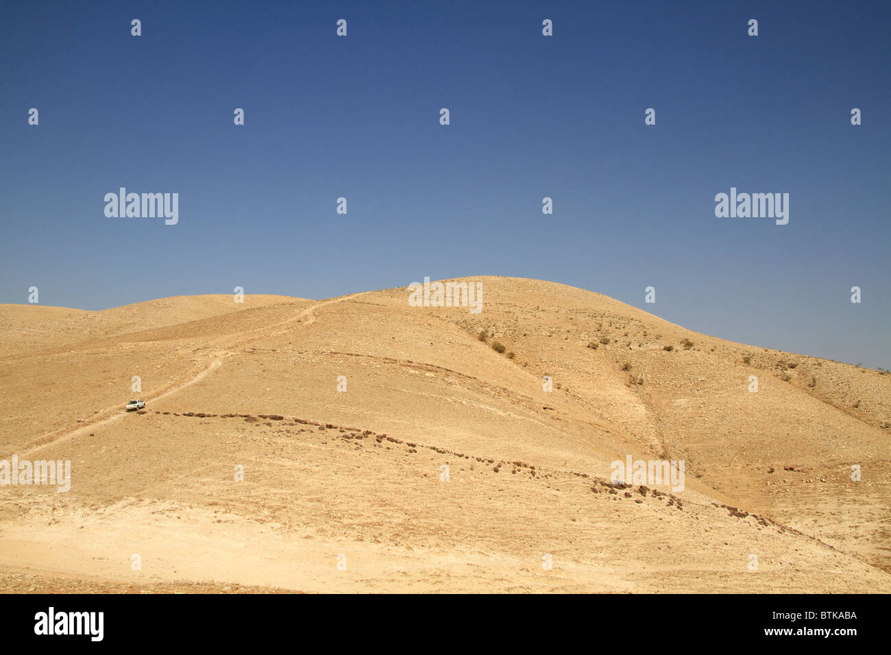 Samaria, the road to the Horn of Sartaba - Stock Image