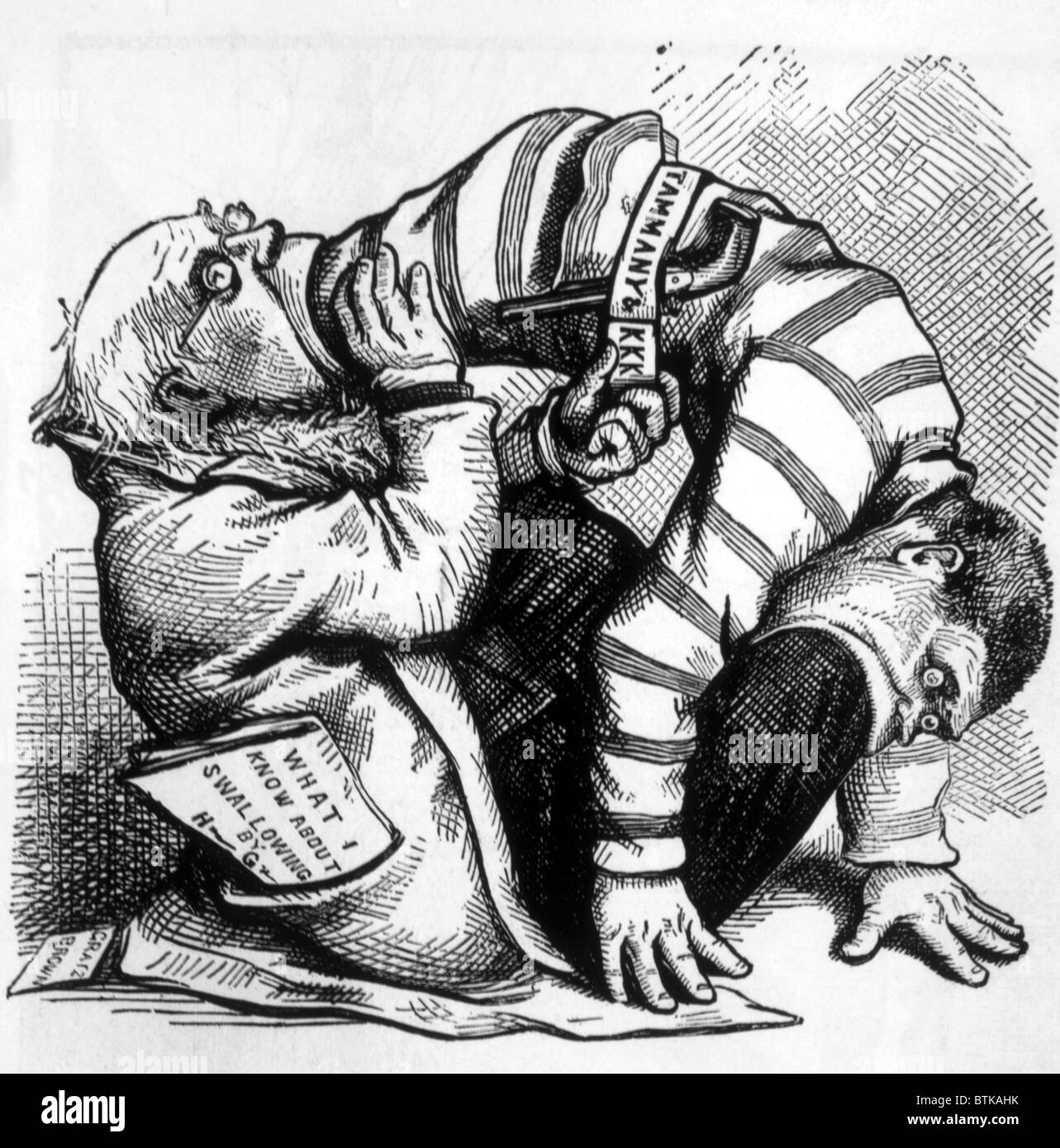 Thomas Nast Political Cartoon Depicting Democratic