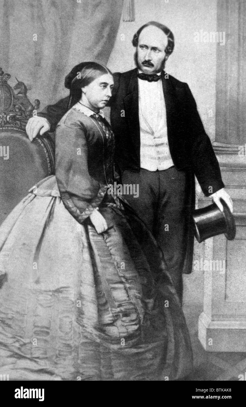 Queen Victoria (1819-1901) and Prince Albert (1819-1861). Queen Victoria  ruled Great Britain from 1837-1901. Picture: - Stock Image