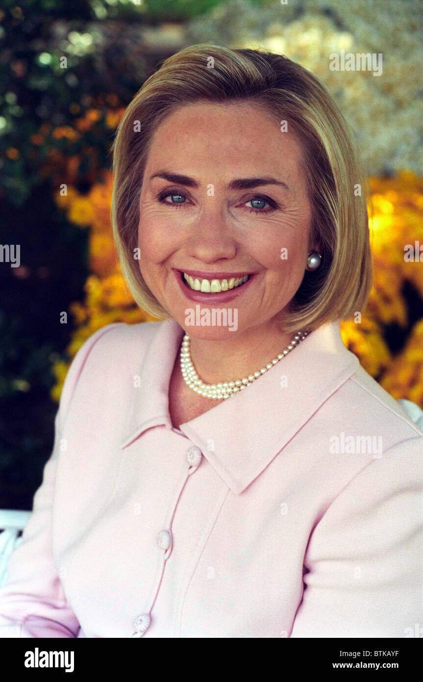 Hillary Rodham Clinton In A White House Portrait Taken On