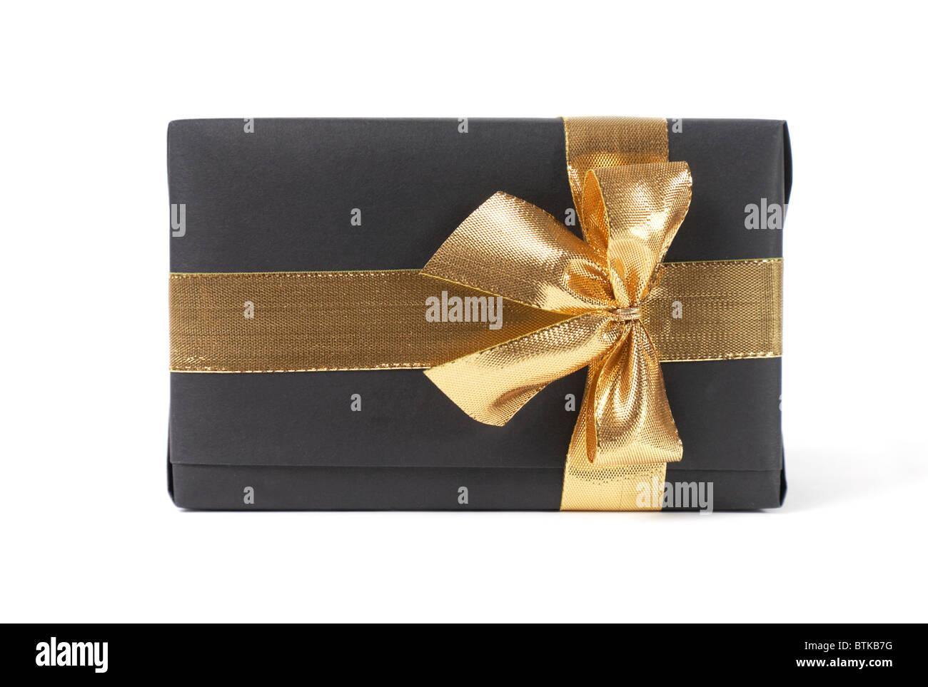 black gift - Stock Image