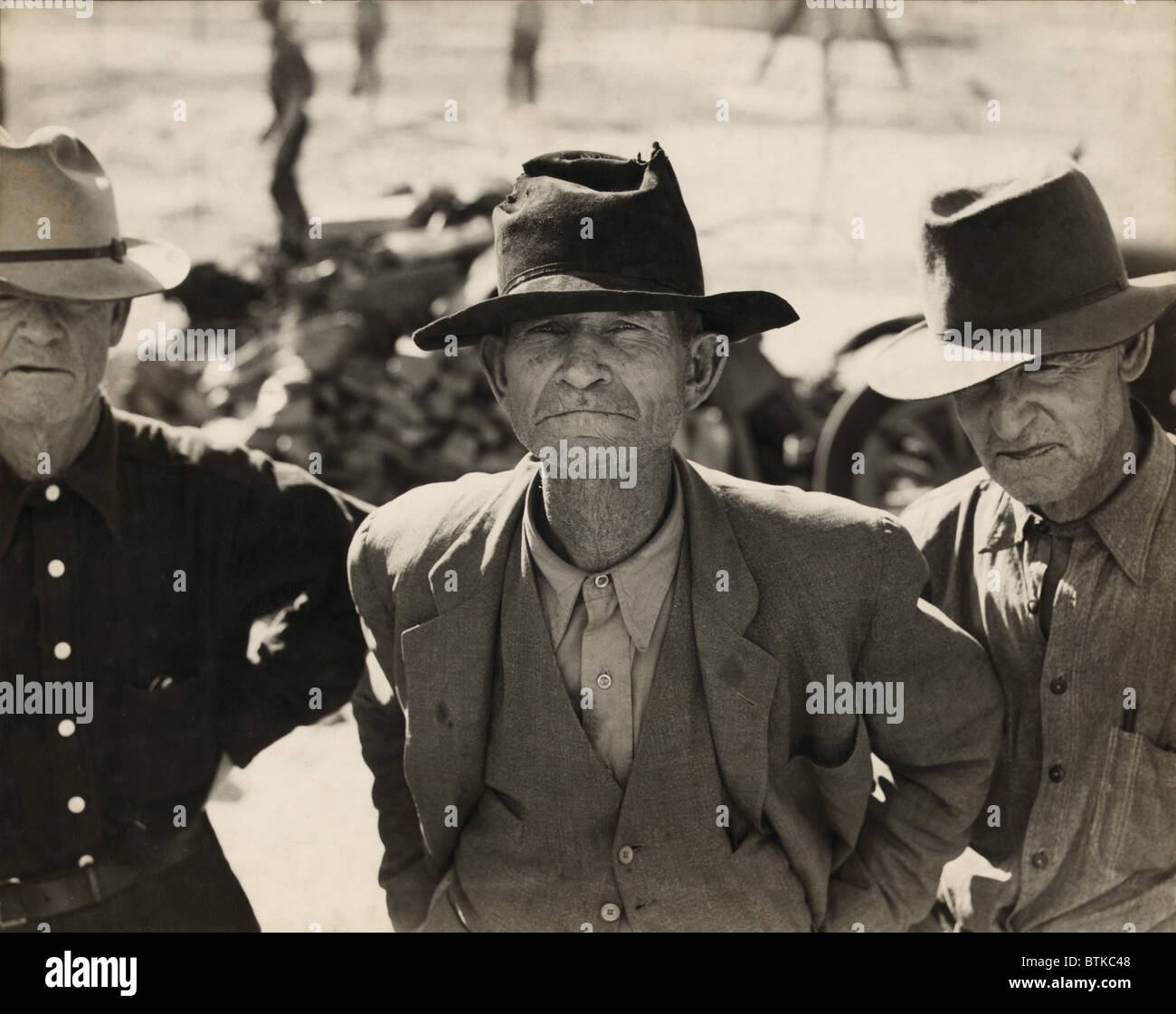 Ex-tenant farmer on relief grant in the Imperial Valley, California. After four years of Roosevelt's New Deal - Stock Image