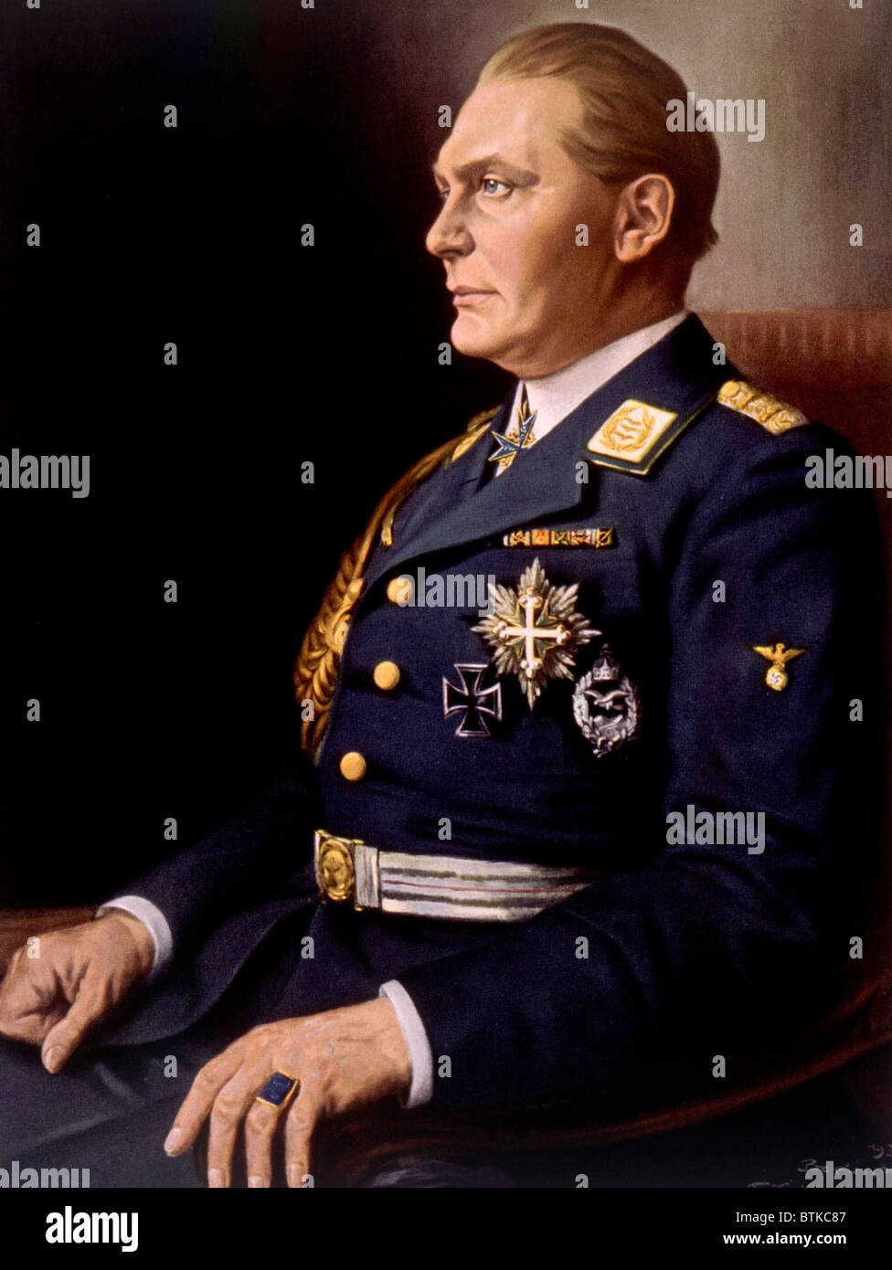 Hermann Goering, (1893-1946), German politician and military leader and leading member of the Nazi Party. 1934 painting Stock Photo