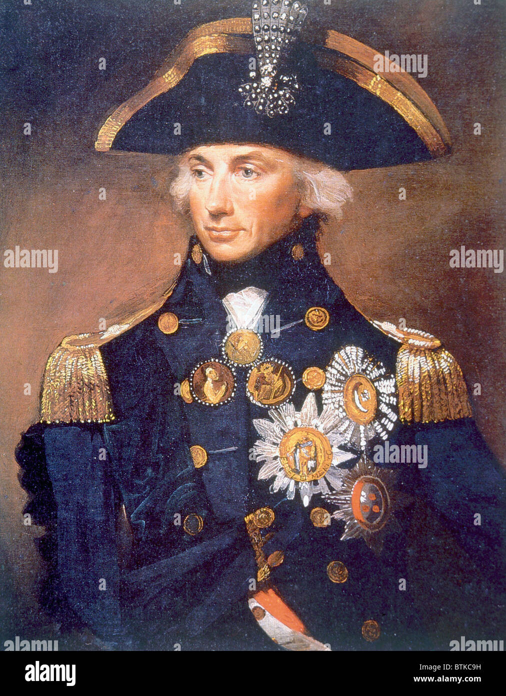 Admiral Horatio Nelson 1758 1805 Portrait From The National Maritime Museum In London By Lemuel Abbott 1798