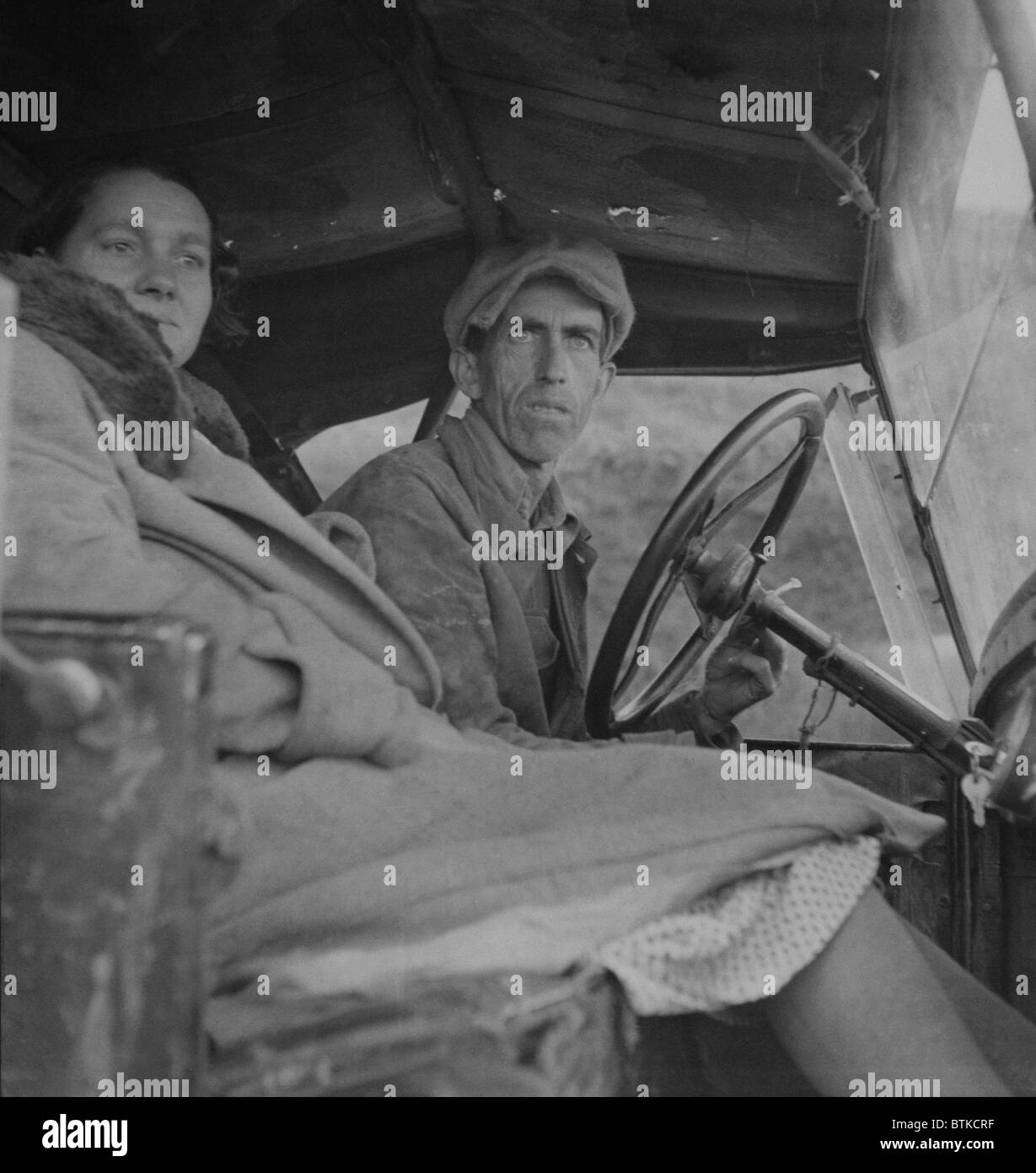 Missouri farmer, displaced by the farm crisis of the Great Depression, in California seeking work as migratory farm - Stock Image