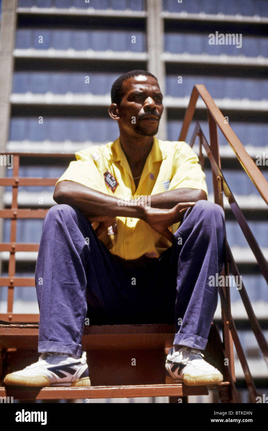 South African guitarist Ray Piri, South Africa, 1987. Photo by: Karen Petersen/Everett Collection - Stock Image