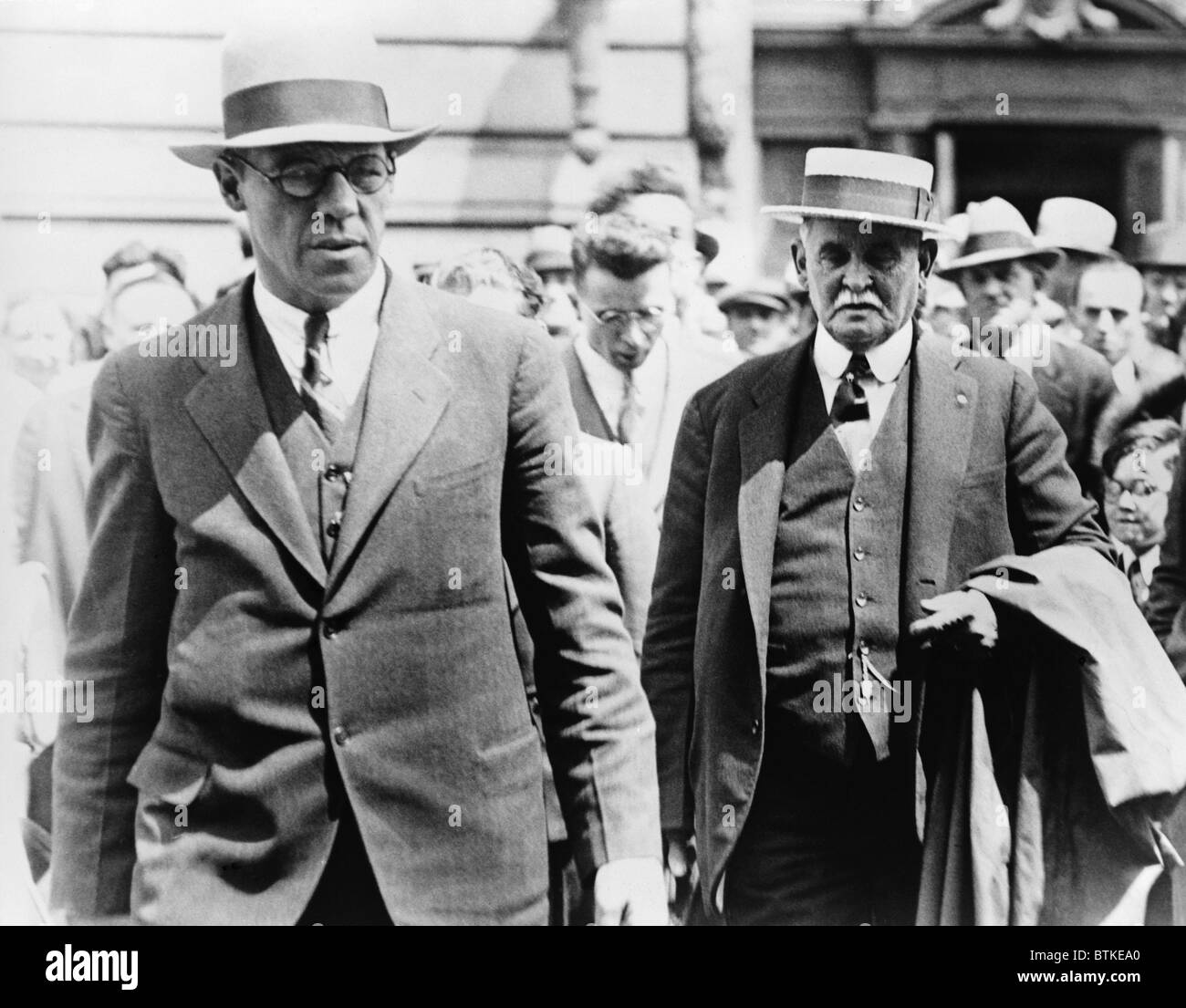 Dr. John F. Condon (on right) inserted himself into the Lindbergh kidnapping case by writing an open letter to the - Stock Image