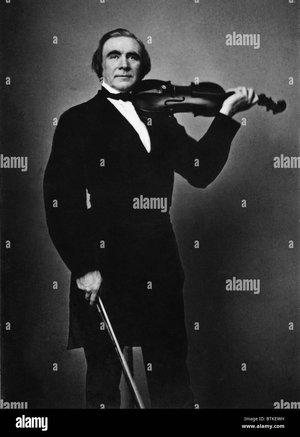 Ole Borneman Bull (1810-1880), Norwegian virtuoso violinist was an international musical star in Europe and America. - Stock Image