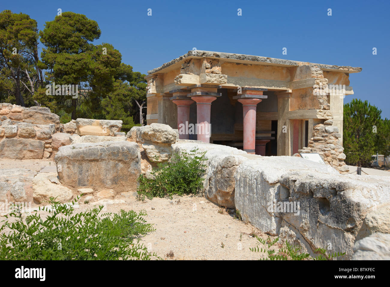 The North Lustral Basin Knossos Palace Crete Greece Stock Photo