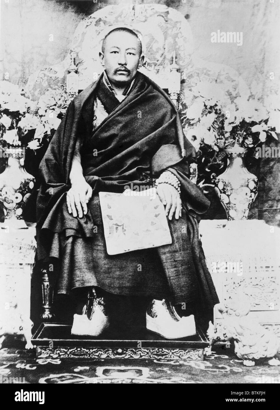 Panchen Lama (Chos-kyi Nyi-ma) (1883-1937) in ca. 1930. Among Tibetan Buddhists, he is second only to the Dalai - Stock Image