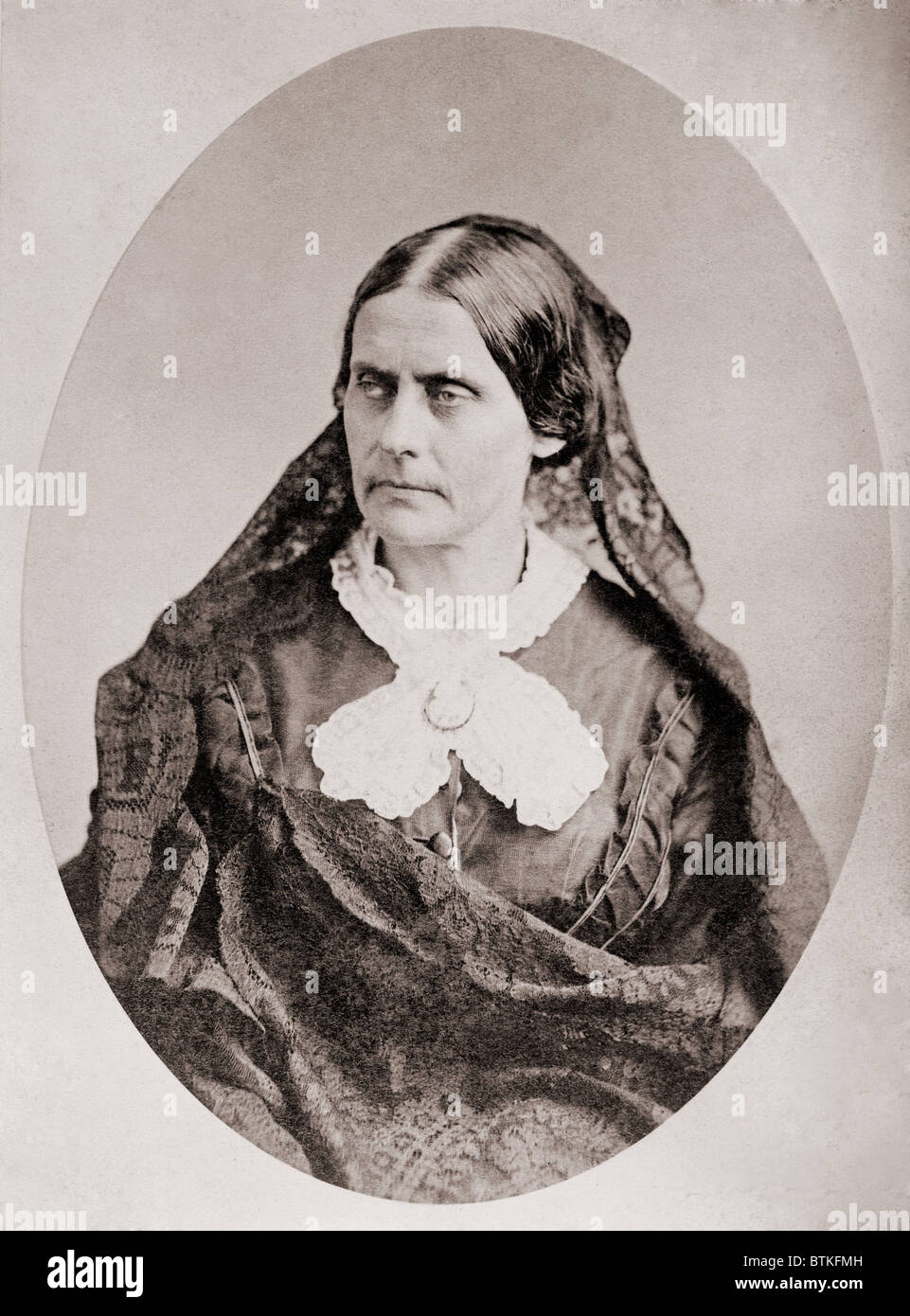 Susan B. Anthony (1820 –1906), American women's rights leader , ca. 1860. - Stock Image
