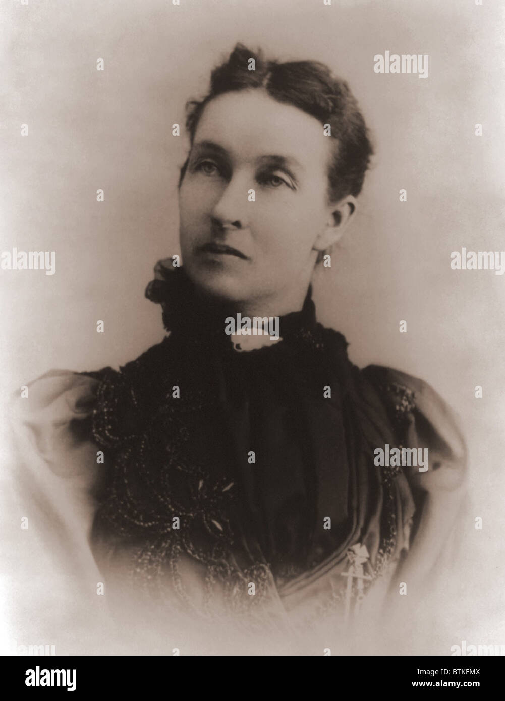Mary Elizabeth Lease (1853-1933), American populist who campaigned against Wall Street, big business, banks, and - Stock Image