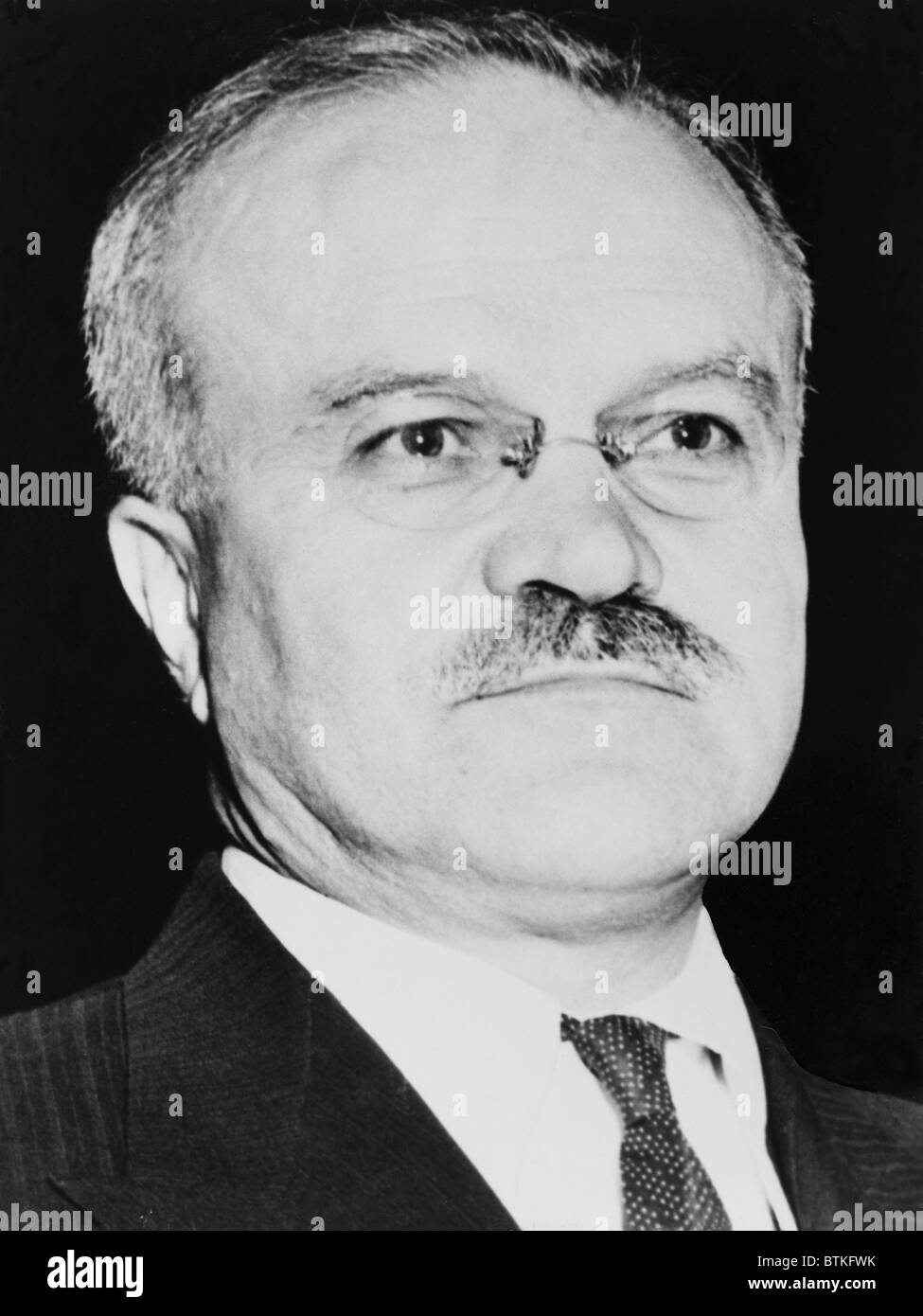 Russian Foreign Minister, Vyacheslav Molotov (1890-1986), ca. 1955, before his conflicts with Nikita Khrushchev - Stock Image