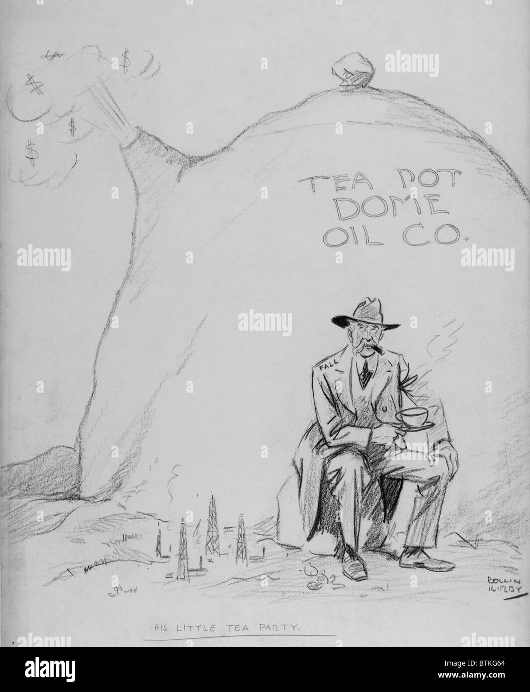 Cartoon Of Secretary Of The Interior Albert Fall 1861 1944