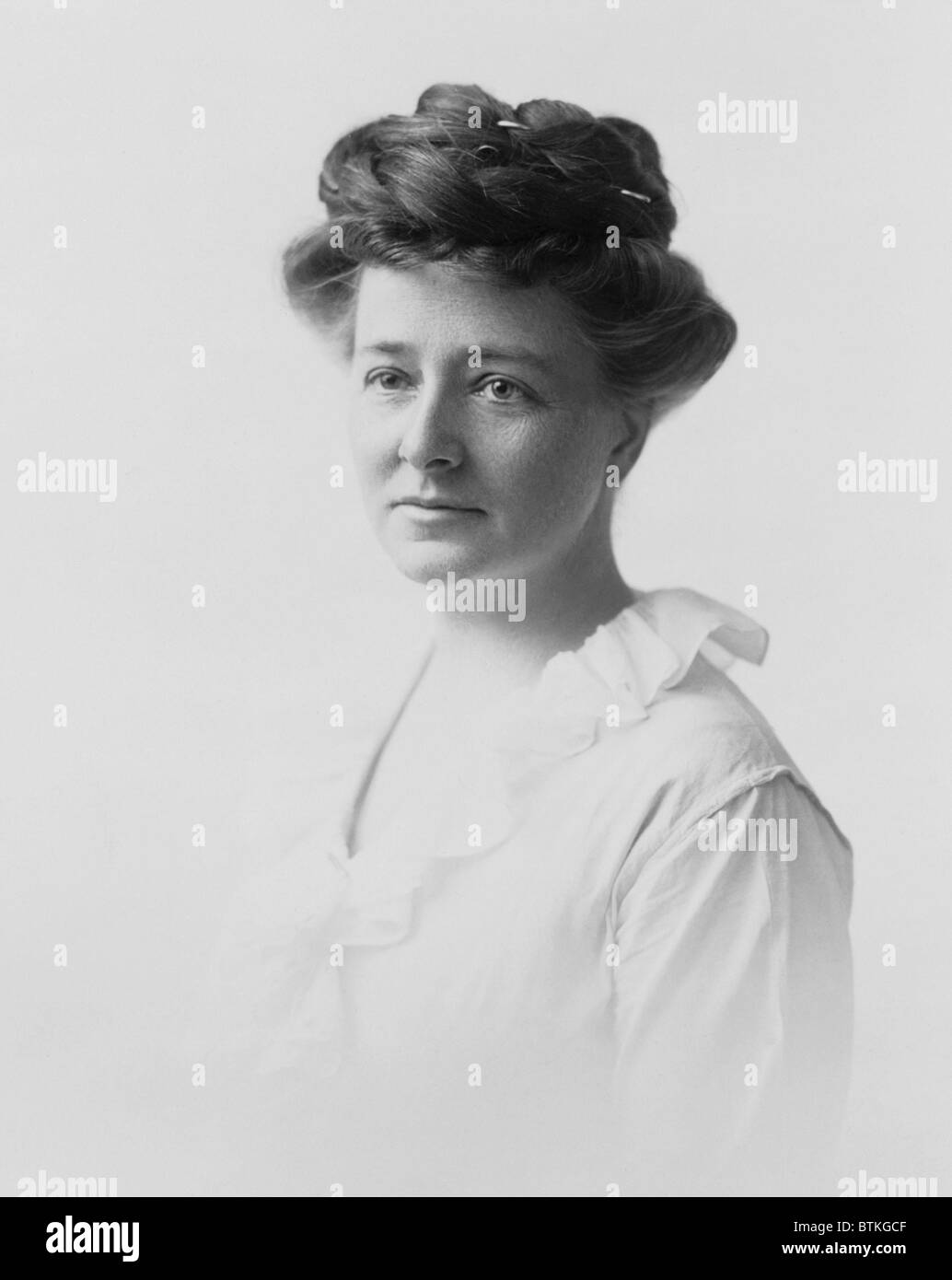 Maud Wood Park (1871-1955), joined Susan B. Anthony's older first generation of women's suffragists in her - Stock Image