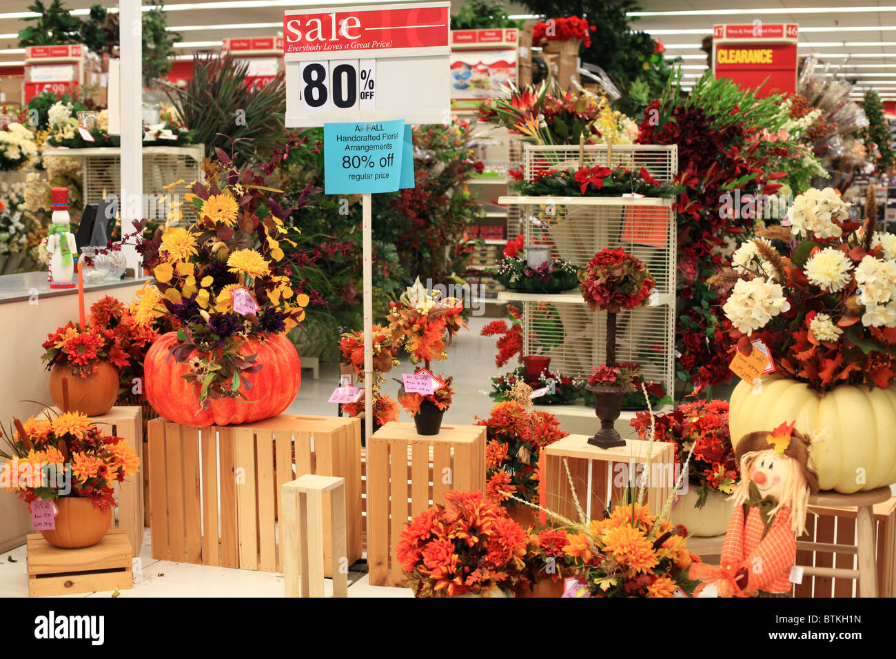 Halloween Decorations For Sale In A Canadian Store Stock