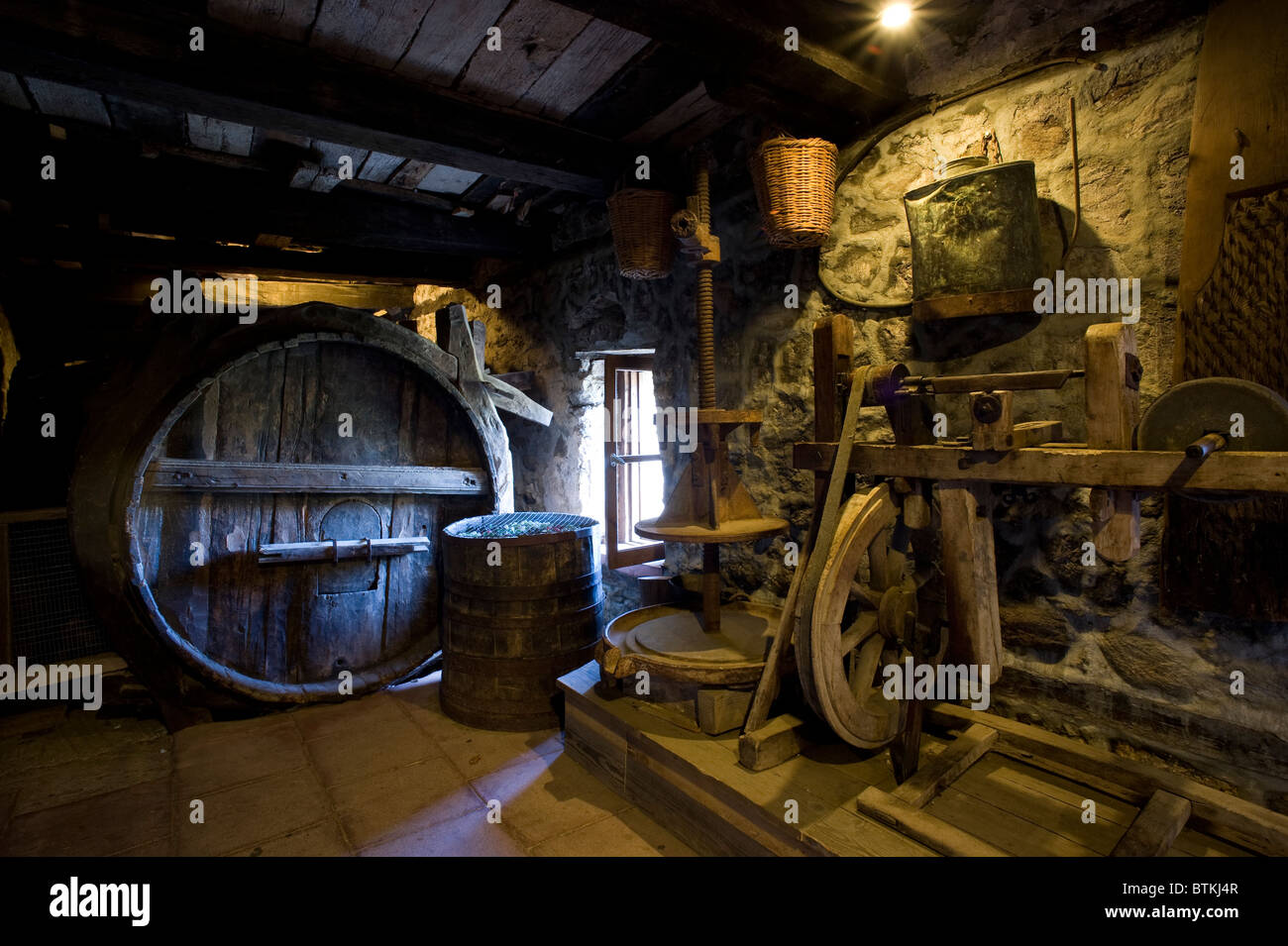 One of the museums in the Grand Meteoron monastery. - Stock Image