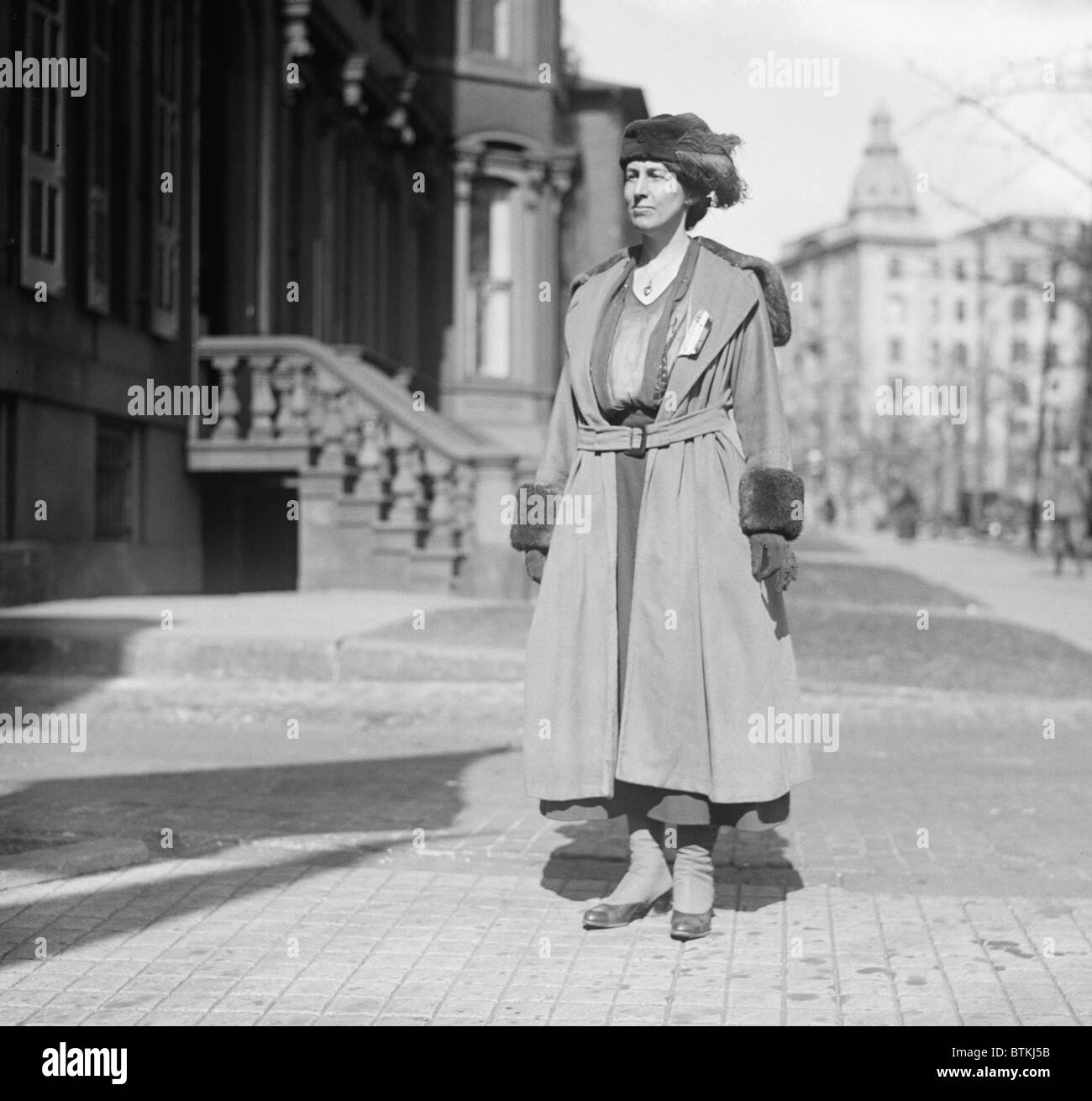 Nora Stanton Blatch (1883-1971), was the first U.S. woman to earn a degree in civil engineering and gain admission - Stock Image
