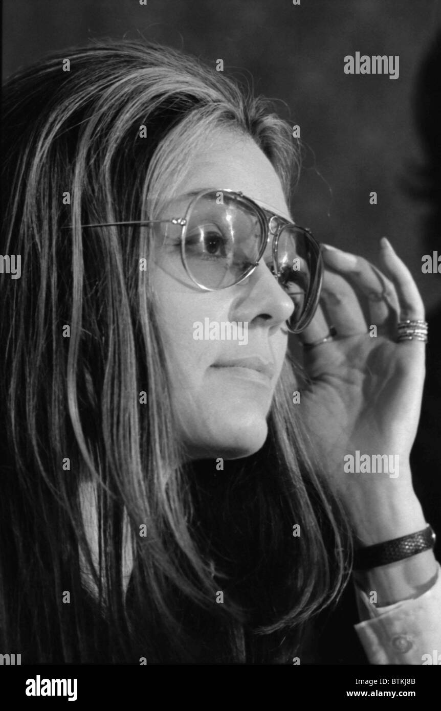 Gloria Steinem (b. 1934), feminist magazine editor, and leader of the 1970's  women's liberation movement. 1972. - Stock Image